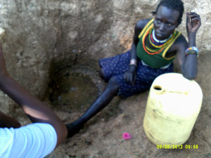 Fetching water